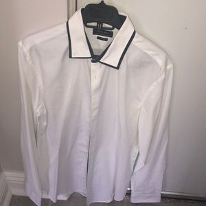 Men's white button up